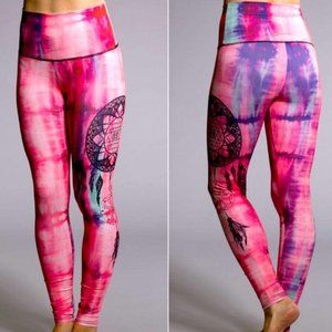 Onzie | Pink High Waist Leggings Dreamcatcher S/M